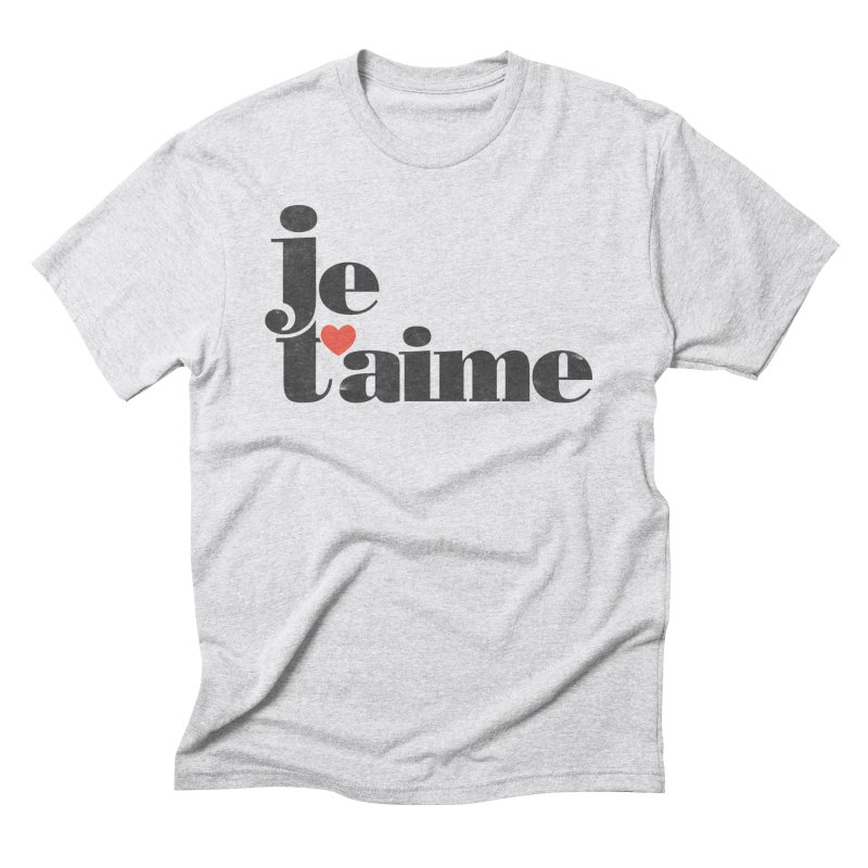 Je T'aime Men's Triblend T-Shirt by Ross Zietz