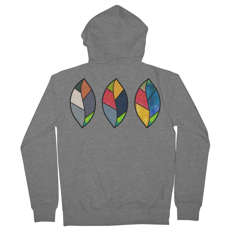 3 Faces of the Fall Men's French Terry Zip-Up Hoody by rouages's Artist Shop