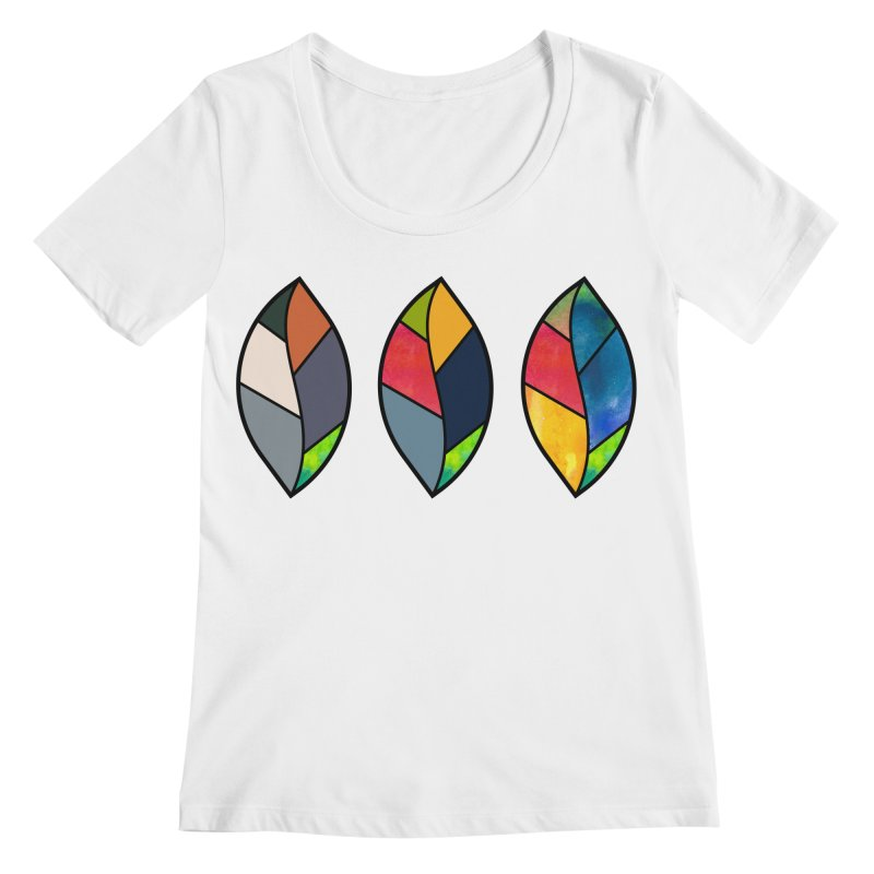 3 Faces of the Fall Women's Regular Scoop Neck by rouages's Artist Shop