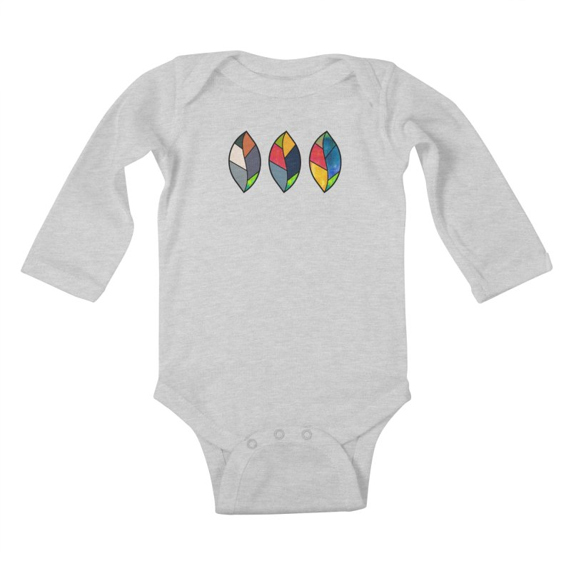 3 Faces of the Fall Kids Baby Longsleeve Bodysuit by rouages's Artist Shop
