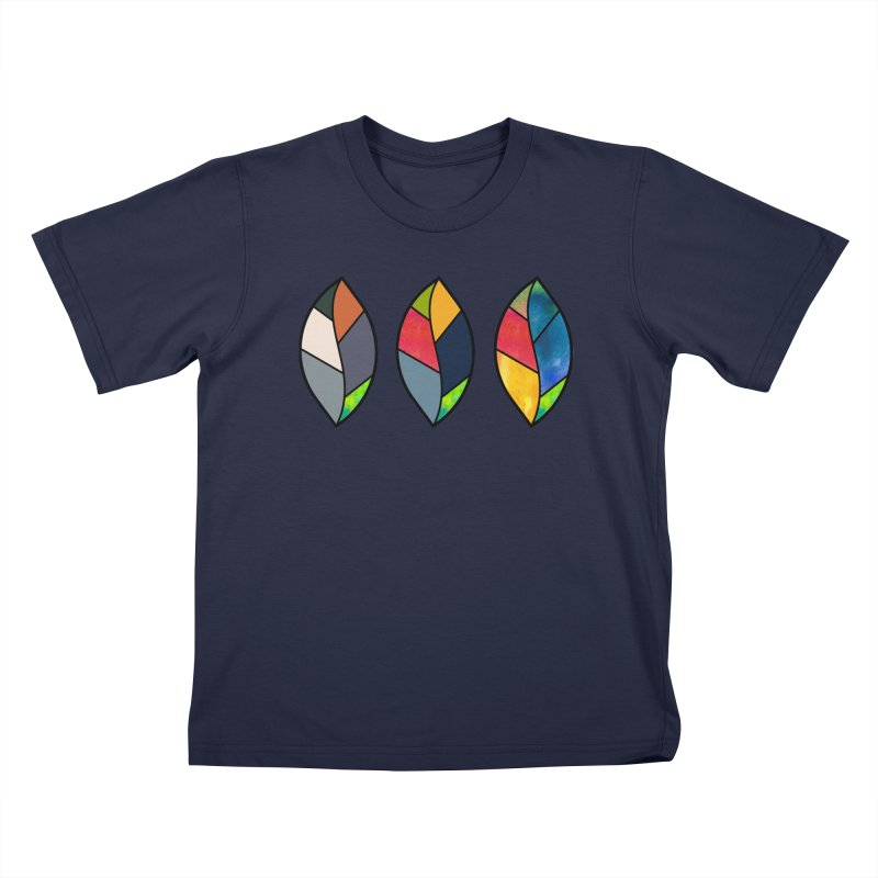 3 Faces of the Fall Kids T-Shirt by rouages's Artist Shop
