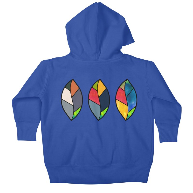 3 Faces of the Fall Kids Baby Zip-Up Hoody by rouages's Artist Shop