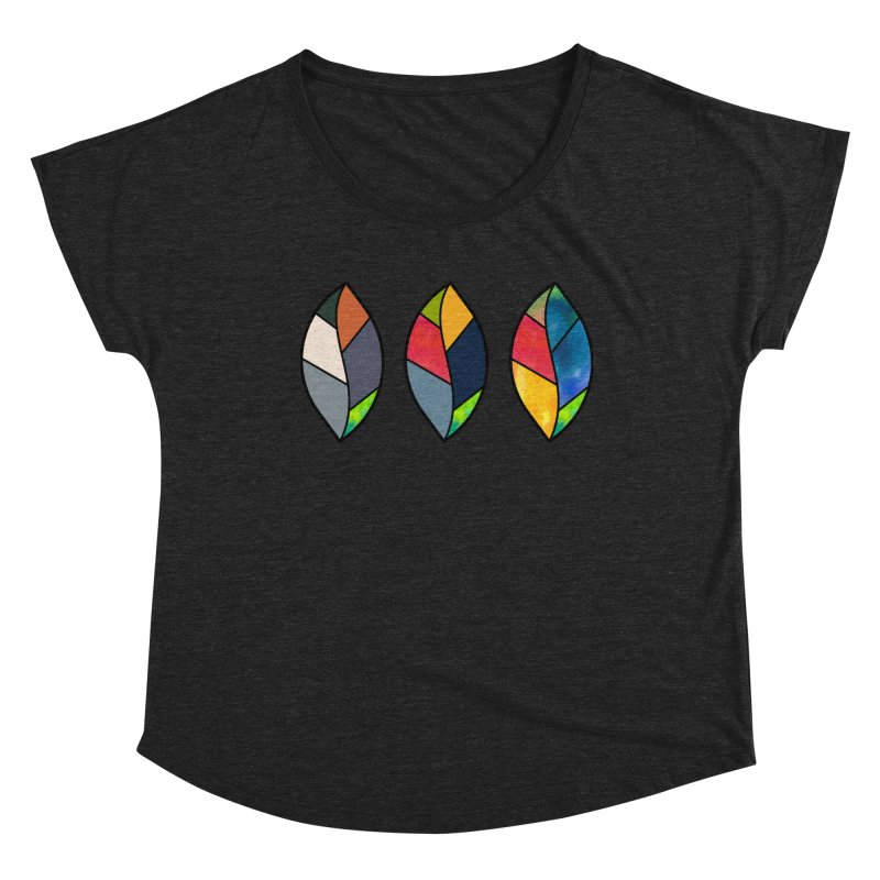 3 Faces of the Fall Women's Dolman Scoop Neck by rouages's Artist Shop