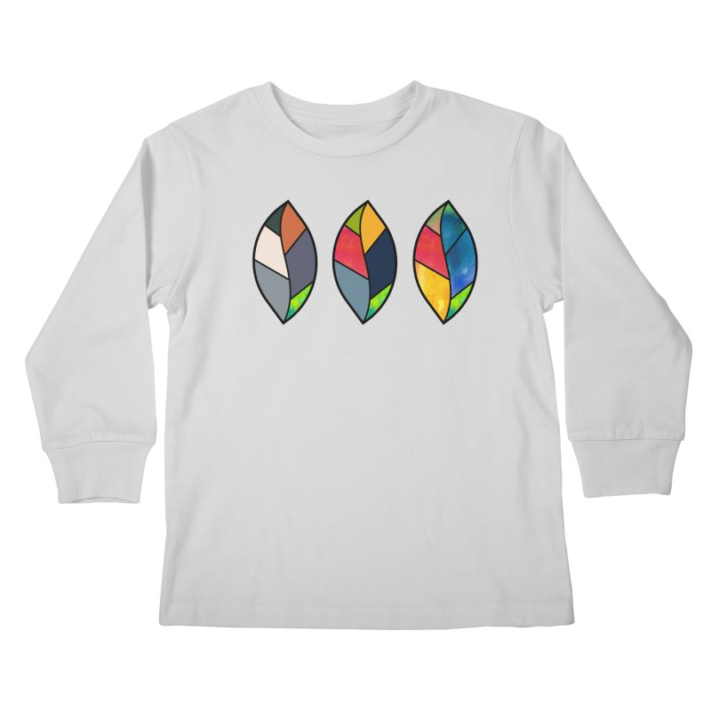 3 Faces of the Fall Kids Longsleeve T-Shirt by rouages's Artist Shop