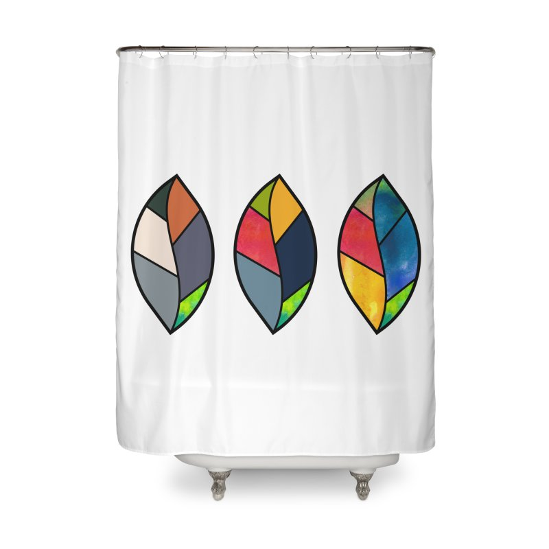 3 Faces of the Fall Home Shower Curtain by rouages's Artist Shop