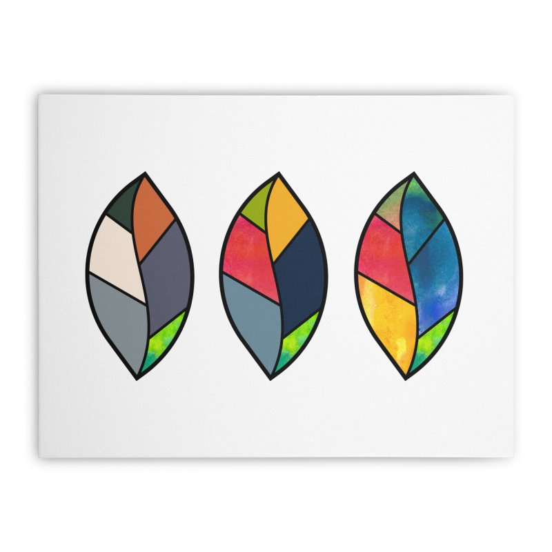3 Faces of the Fall Home Stretched Canvas by rouages's Artist Shop