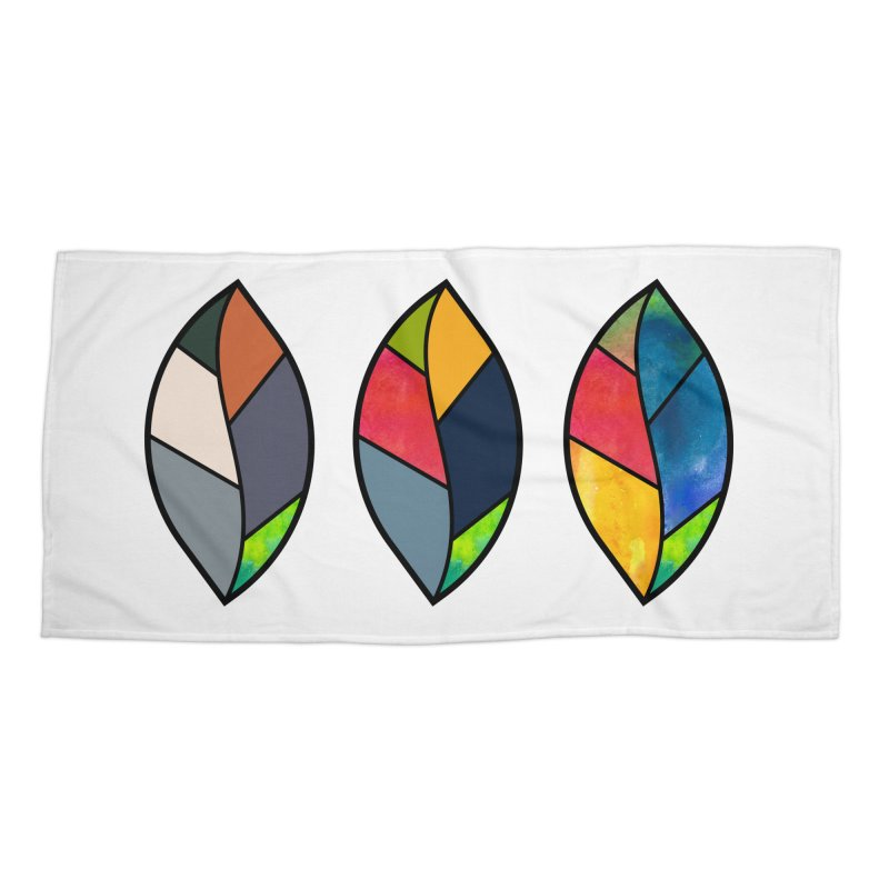 3 Faces of the Fall Accessories Beach Towel by rouages's Artist Shop
