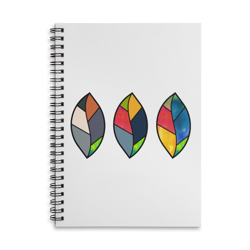 3 Faces of the Fall Accessories Lined Spiral Notebook by rouages's Artist Shop