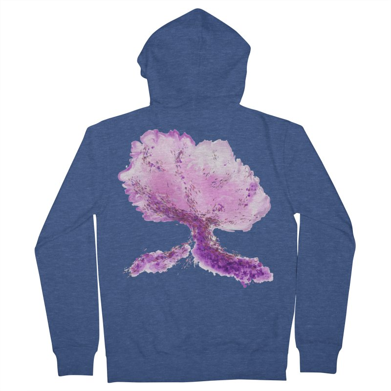 In another world, a tree... Men's French Terry Zip-Up Hoody by rouages's Artist Shop
