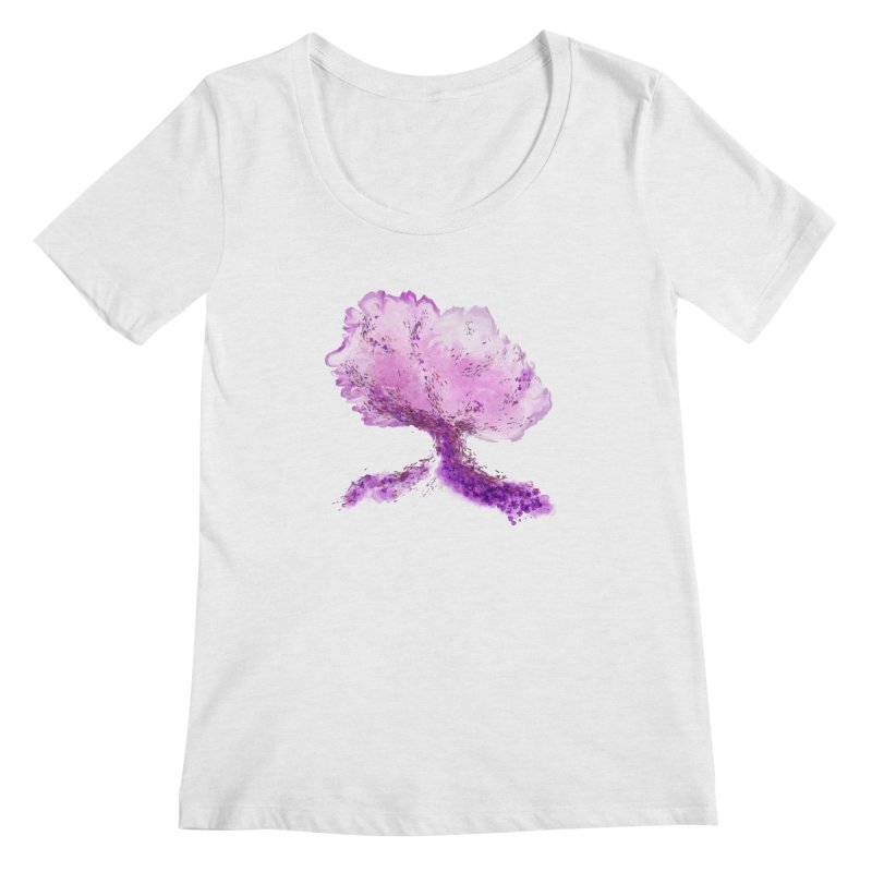 In another world, a tree... Women's Regular Scoop Neck by rouages's Artist Shop