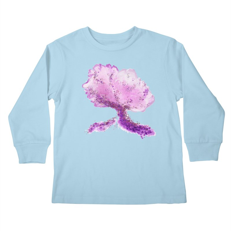 In another world, a tree... Kids Longsleeve T-Shirt by rouages's Artist Shop