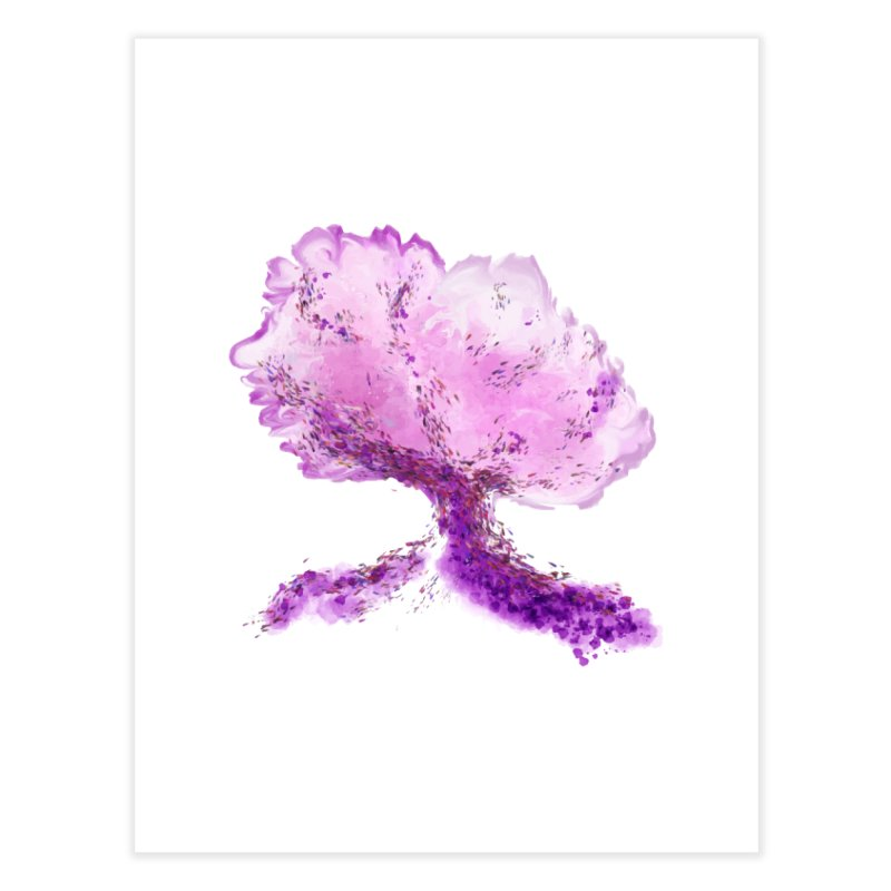 In another world, a tree... Home Fine Art Print by rouages's Artist Shop