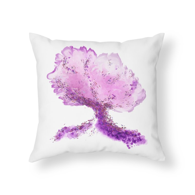 In another world, a tree... Home Throw Pillow by rouages's Artist Shop