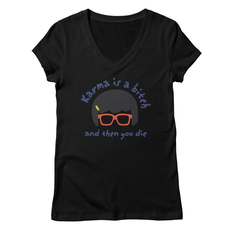 """According to """"Mature"""" Tina... Women's Regular V-Neck by rouages's Artist Shop"""