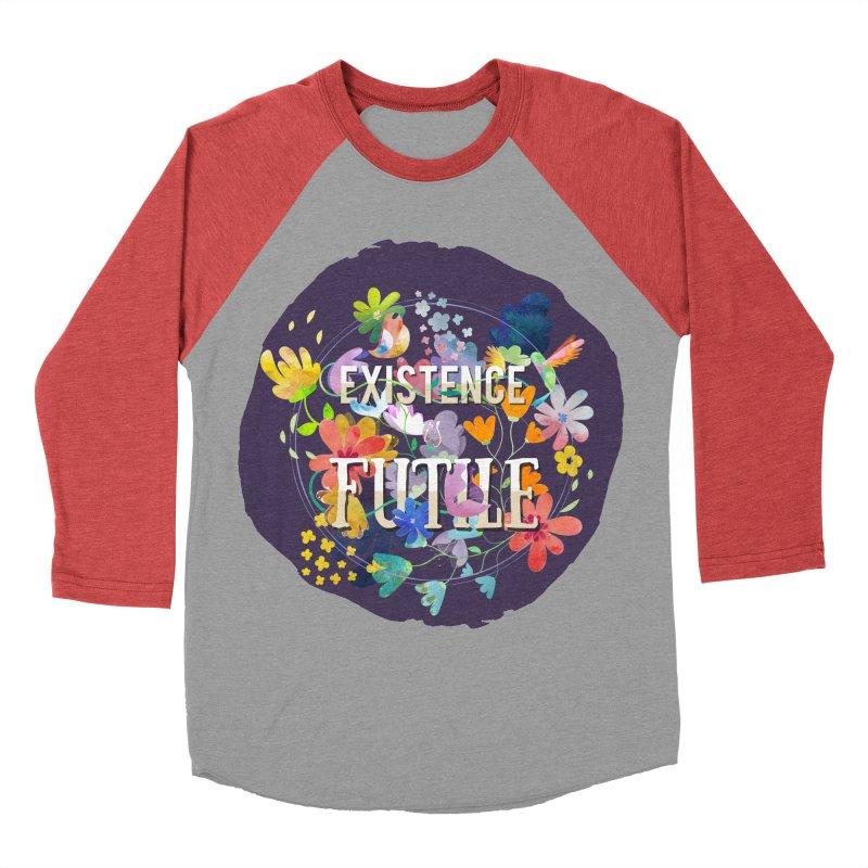 Existence Men's Baseball Triblend Longsleeve T-Shirt by rouages's Artist Shop
