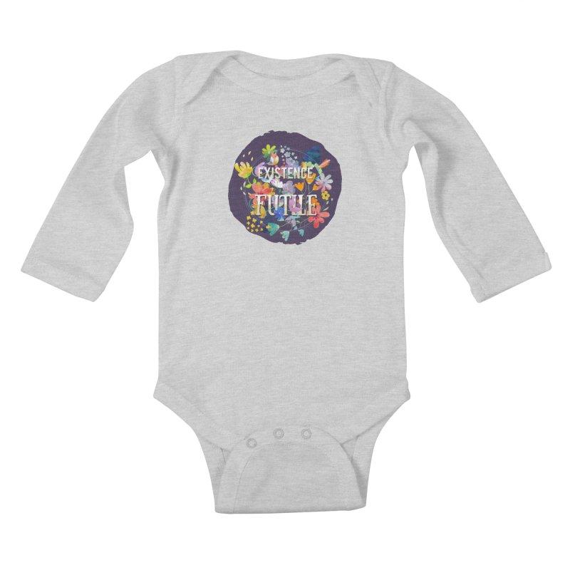 Existence Kids Baby Longsleeve Bodysuit by rouages's Artist Shop