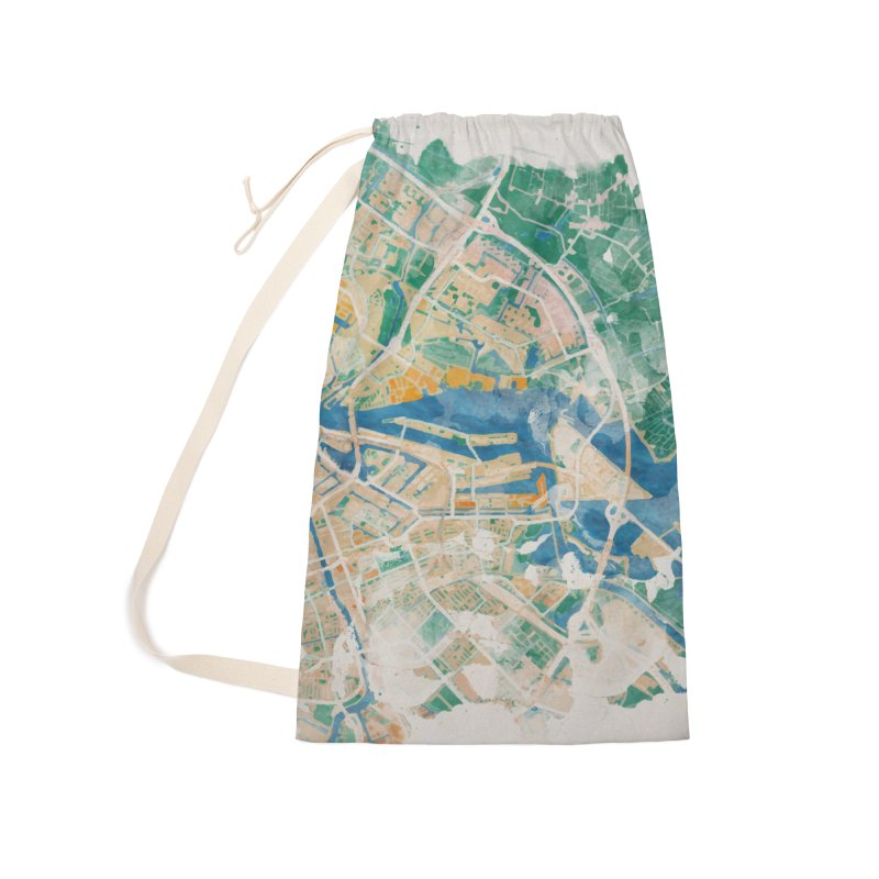 Amsterdam, the watercolor beauty Accessories Laundry Bag Bag by rouages's Artist Shop