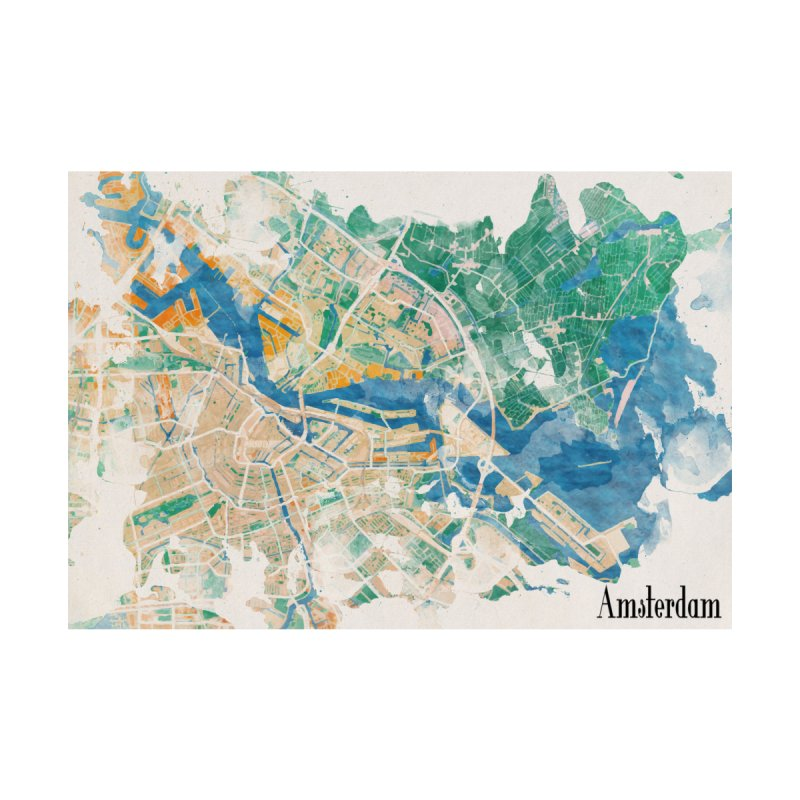 Amsterdam, the watercolor beauty Home Shower Curtain by rouages's Artist Shop