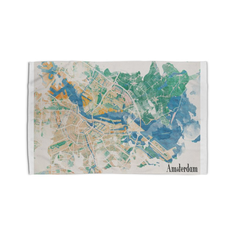 Amsterdam, the watercolor beauty Home Rug by rouages's Artist Shop