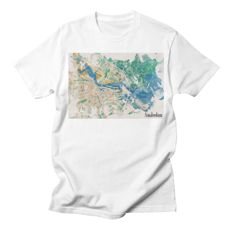 Amsterdam, the watercolor beauty Men's Regular T-Shirt by rouages's Artist Shop