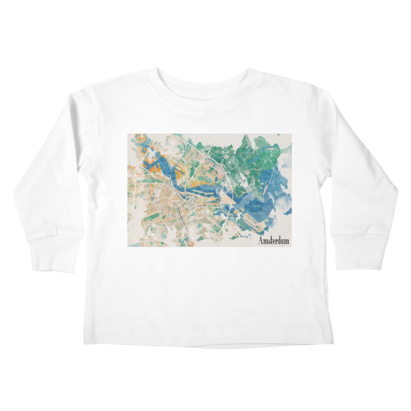 Amsterdam, the watercolor beauty Kids Toddler Longsleeve T-Shirt by rouages's Artist Shop