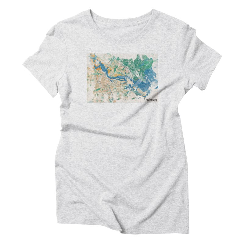 Amsterdam, the watercolor beauty Women's Triblend T-Shirt by rouages's Artist Shop