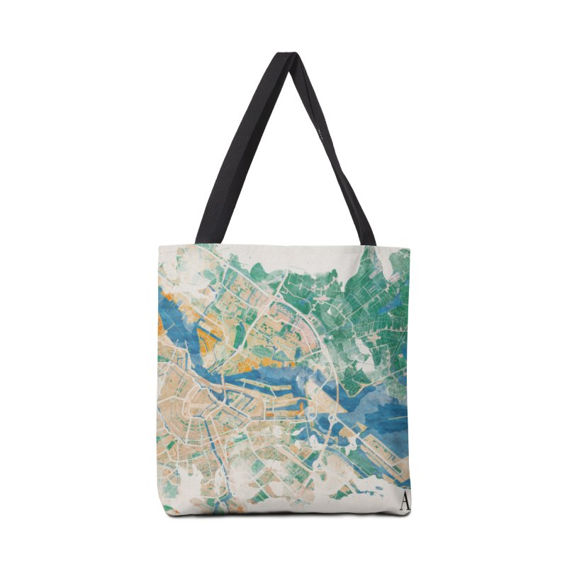 Amsterdam, the watercolor beauty Accessories Tote Bag Bag by rouages's Artist Shop