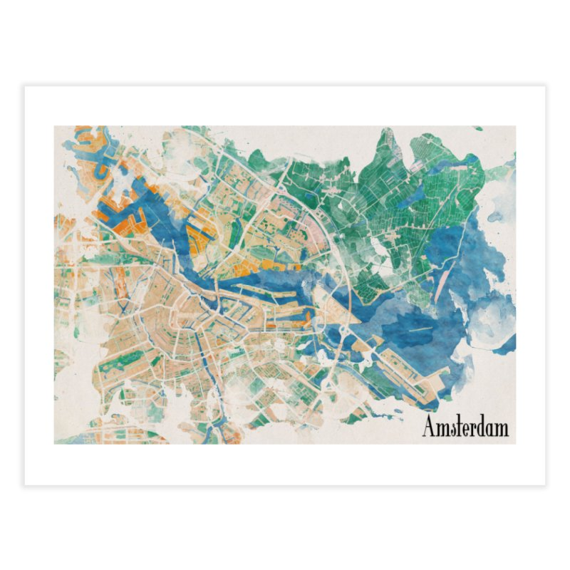 Amsterdam, the watercolor beauty Home Fine Art Print by rouages's Artist Shop
