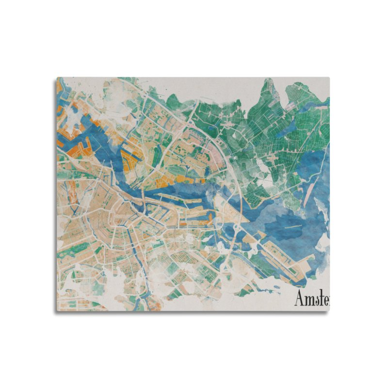 Amsterdam, the watercolor beauty Home Mounted Acrylic Print by rouages's Artist Shop