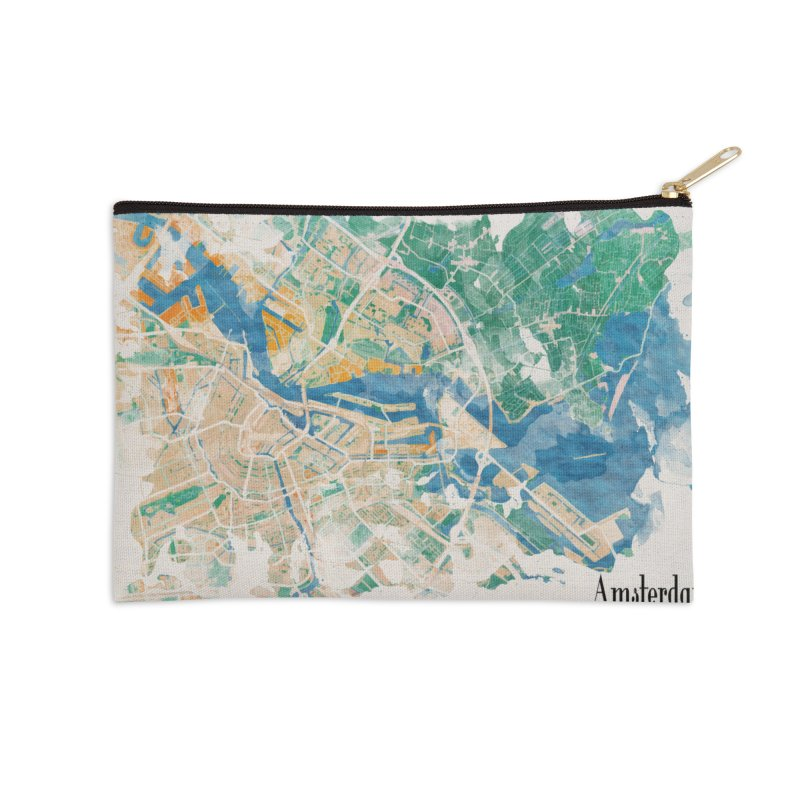 Amsterdam, the watercolor beauty Accessories Zip Pouch by rouages's Artist Shop