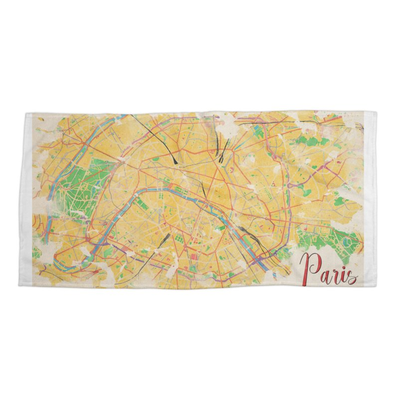 Another Paris Accessories Beach Towel by rouages's Artist Shop