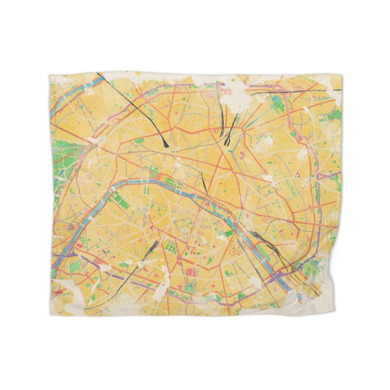 Another Paris Home Fleece Blanket Blanket by rouages's Artist Shop