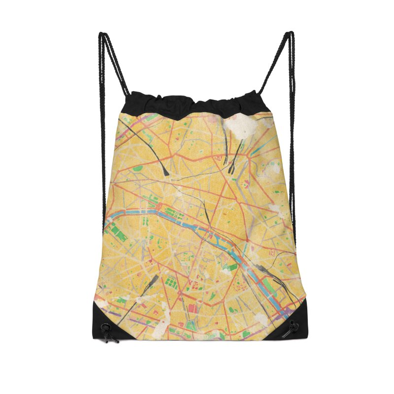 Another Paris Accessories Drawstring Bag Bag by rouages's Artist Shop