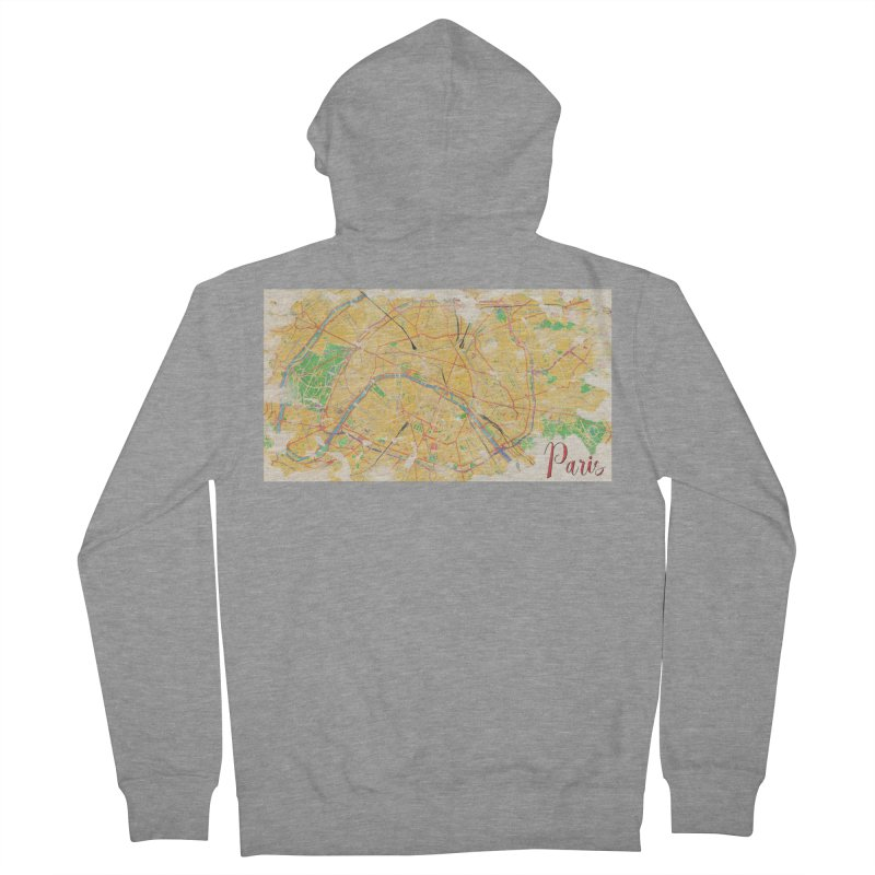 Another Paris Men's French Terry Zip-Up Hoody by rouages's Artist Shop