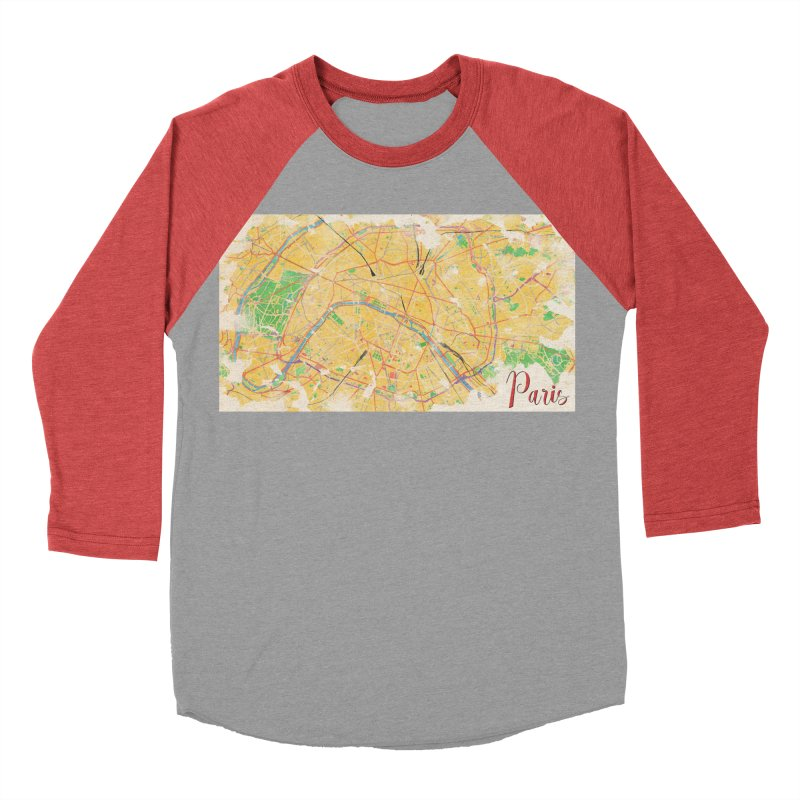Another Paris Men's Baseball Triblend Longsleeve T-Shirt by rouages's Artist Shop