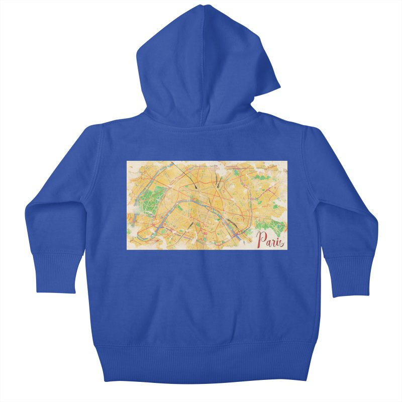 Another Paris Kids Baby Zip-Up Hoody by rouages's Artist Shop