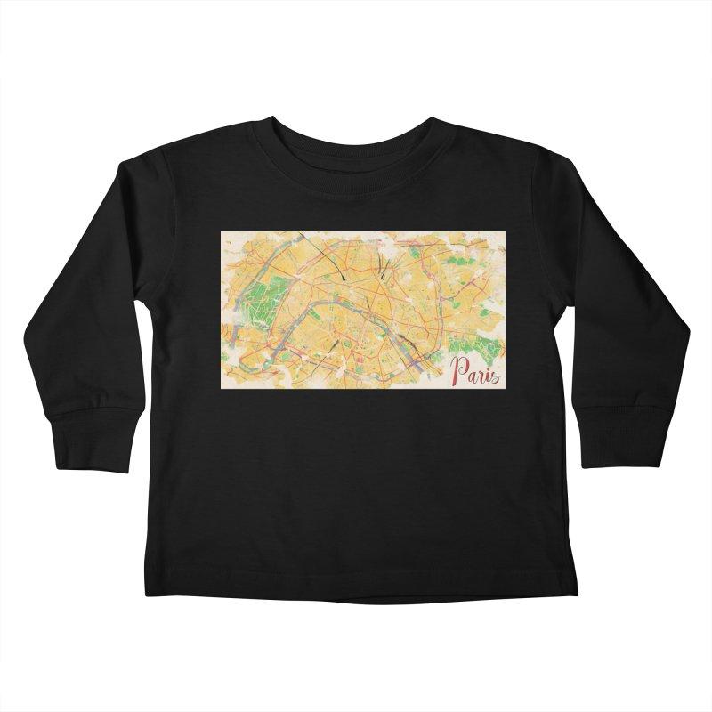 Another Paris Kids Toddler Longsleeve T-Shirt by rouages's Artist Shop