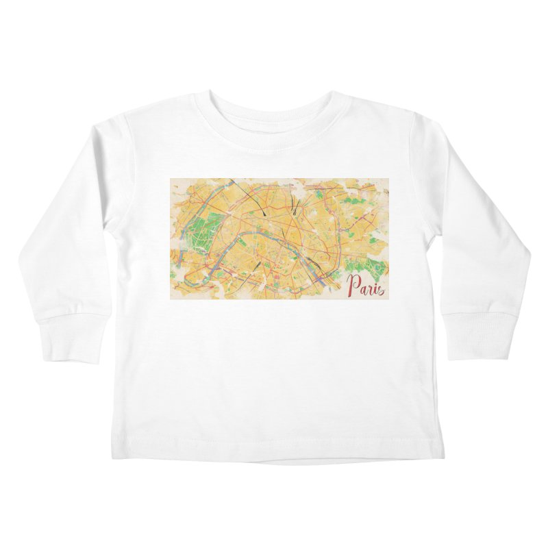 Another Paris Kids Toddler Longsleeve T-Shirt by rouages's Artist Shop