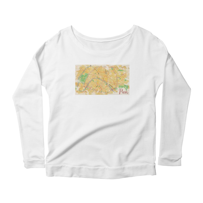 Another Paris Women's Scoop Neck Longsleeve T-Shirt by rouages's Artist Shop