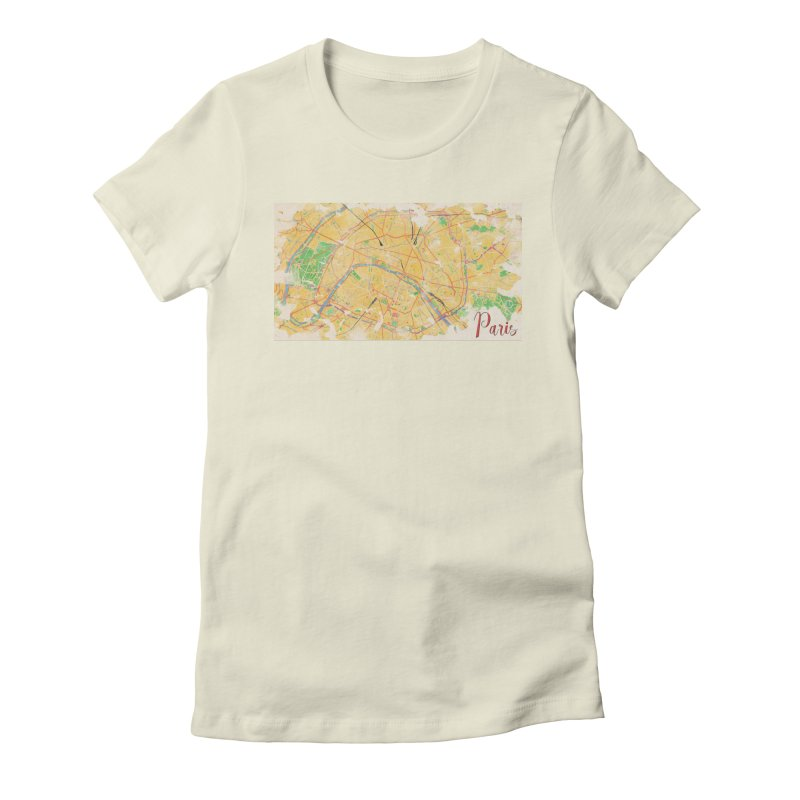Another Paris Women's Fitted T-Shirt by rouages's Artist Shop