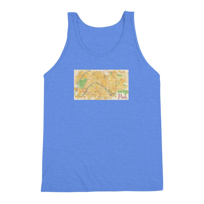 Another Paris Men's Triblend Tank by rouages's Artist Shop