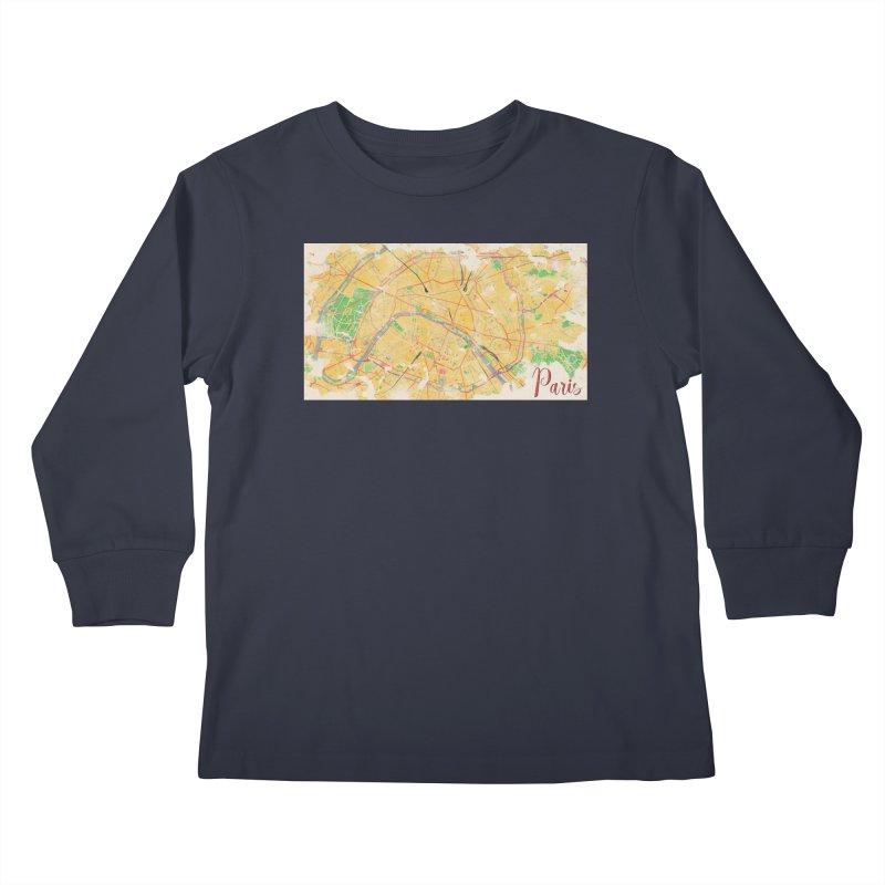 Another Paris Kids Longsleeve T-Shirt by rouages's Artist Shop