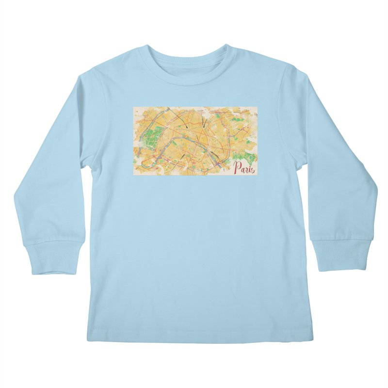 Another Paris Kids Longsleeve T-Shirt by rouages's Artist Shop