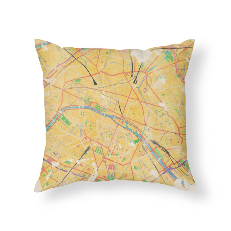 Another Paris Home Throw Pillow by rouages's Artist Shop