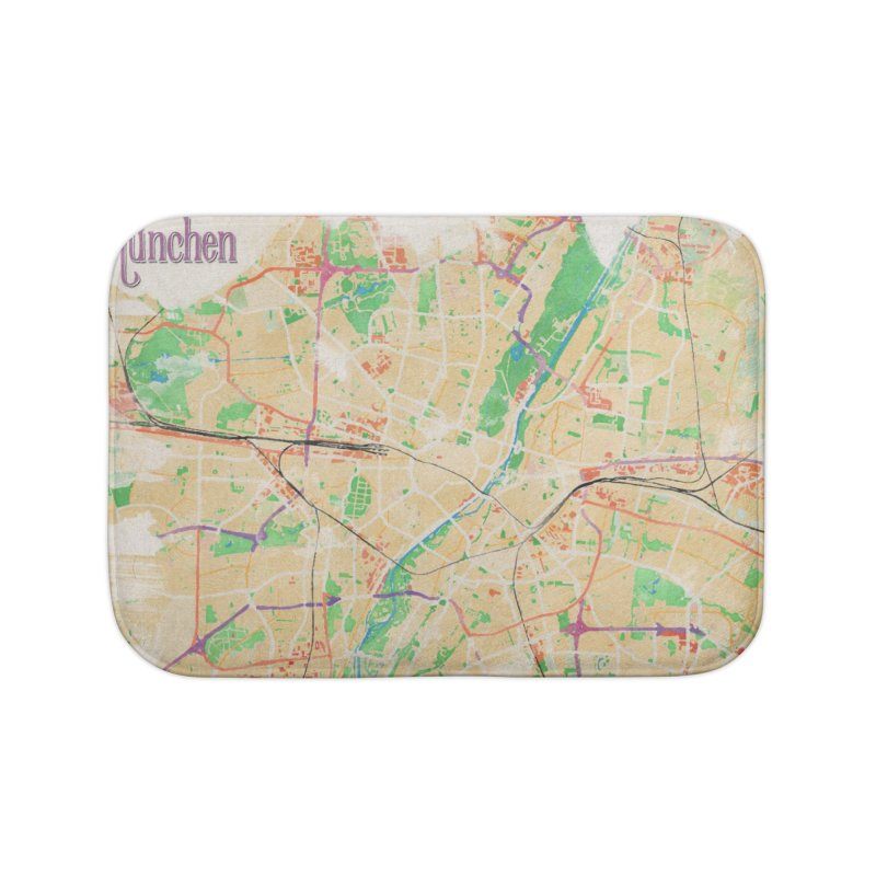 Munich in Watercolor Home Bath Mat by rouages's Artist Shop