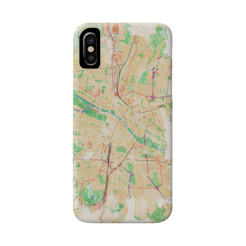 Munich in Watercolor Accessories Phone Case by rouages's Artist Shop