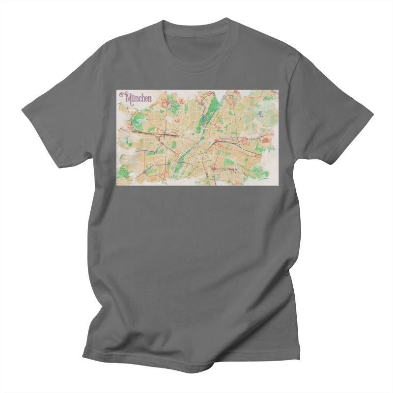 Munich in Watercolor Men's T-Shirt by rouages's Artist Shop