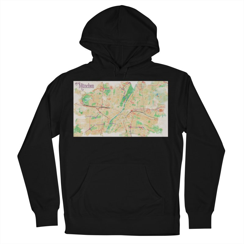 Munich in Watercolor Women's French Terry Pullover Hoody by rouages's Artist Shop