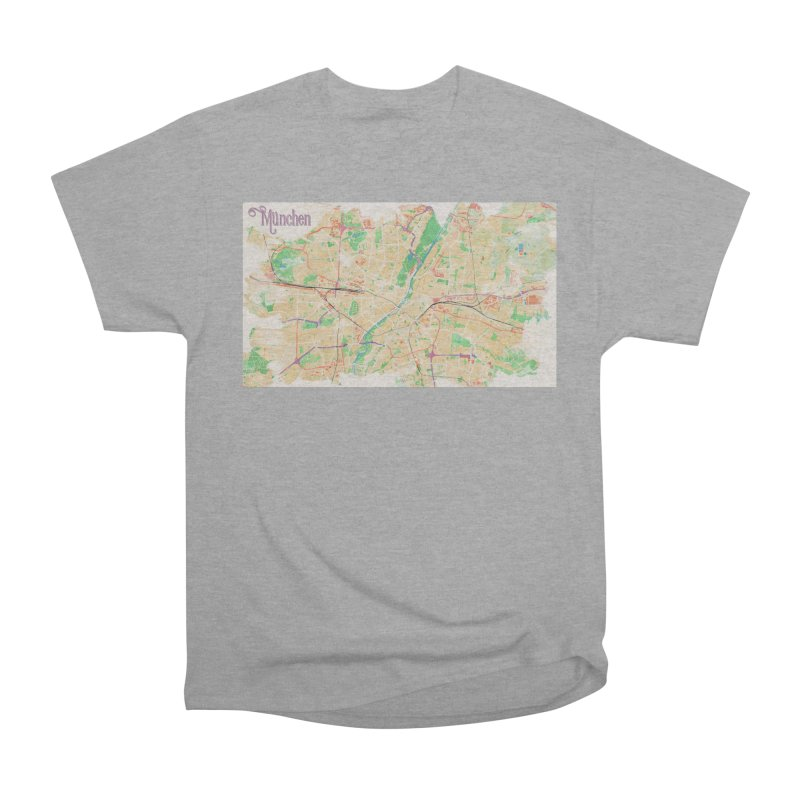 Munich in Watercolor Women's Heavyweight Unisex T-Shirt by rouages's Artist Shop