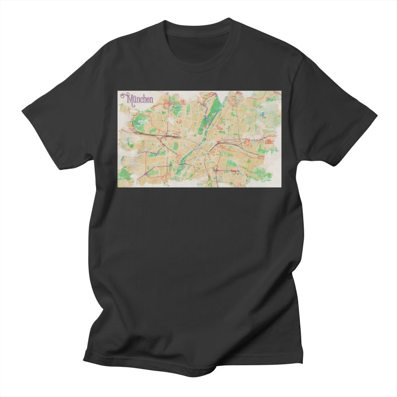 Munich in Watercolor Men's Regular T-Shirt by rouages's Artist Shop